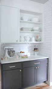 white kitchen cupboards and grey walls kitchen cabinet colors before after the inspired room
