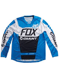 fox motocross jerseys amazon com fox blue 2015 giant demo dh long sleeved mtb jersey m