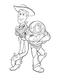 buzz woody coloring pages coloring