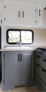 what is the best paint for rv cabinets renovation progress rv kitchen cabinets remodeled cers