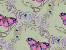 pattern of peacock feather and peacock butterfly stock illustration