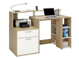 bureau multimedia conforama bureau 1 porte 1 tiroir 3 niches oracle coloris blanc et