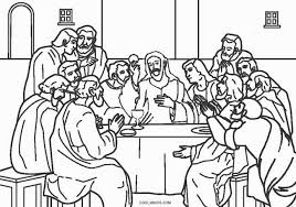 Free Printable Jesus Coloring Pages For Kids Cool2bkids Last Supper Coloring Page