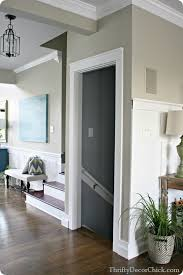 How To Install Interior Door Casing Black And White And Awesome All Over From Thrifty Decor