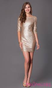 ruby rox short sleeve gold sequin dresses promgirl
