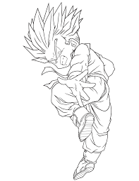 dragon ball super saiyan coloring page free printable coloring