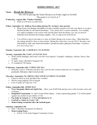 Hallway Pass Homecoming Schedule Sargent Public Schools