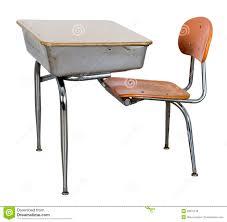 Schreibtisch M El 24 Alter Retro Schule Schreibtisch Getrennt Auf Weiß Stockbild