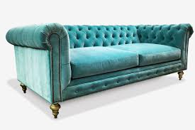 Blue Velvet Chesterfield Sofa by The Fitzgerald Classic Chesterfield Of Iron Oak Green Velvet
