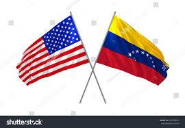 Venezual Flag 3d Illustration Usa Venezuela Flags Together Stock Illustration