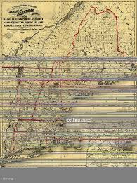 Railroad Map Railroad Map Of New England And Lower Canada Pictures Getty Images
