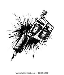 tattoo gun sketch tattoo machine spray ink illustration on stock illustration