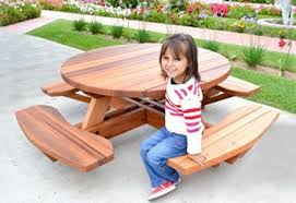 Free Plans For Round Wood Picnic Table by Pergola Kits Pavilions U0026 Redwood Furniture Forever Redwood