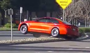 video watch a bmw m4 crash outside cars and coffee