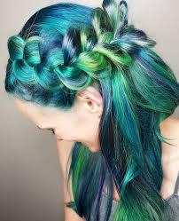 northern light hair green hair teal hair purple hair blue hair