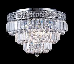 Crystal Flush Mount Ceiling Light Fixture by Flush Mount Crystal Light Fixtures Lighting Designs