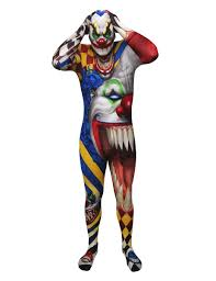 scary clown halloween mask scary clown morphsuits costume for adults vegaoo