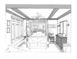 interior design bedroom sketches one point perspective memsaheb net