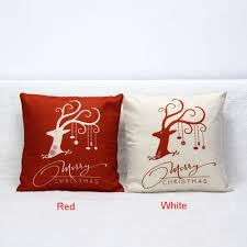 aliexpress com buy 45 45 cm red white christmas deer sofa bed