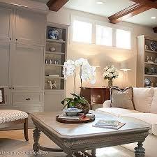 gray basement family room design ideas