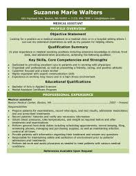 Healthcare Resume Objective Examples by Healthcare Medical Resume Medical Assistant Resume Free Medical