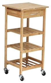 high quality bamboo wheeled kitchen trolley with basket kitchen
