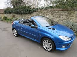 peugeot convertible peugeot 206 cc convertible 2003 2l allure petrol manual blue low