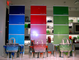 kate spade display idea for color blocking the octagon