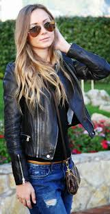 trending summer season with fashionable women leather jackets
