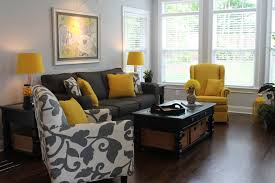 yellow black and gray living room home decorating interior
