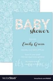 gift card shower invitation baby shower gift card royalty free vector image