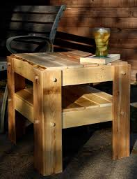 rustic side table made with pallet wood woodworking for mere