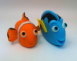nemo cake toppers nemo and dori cake topper de animales popular y modelado