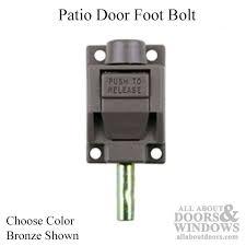 Patio Door Foot Lock Foot Bolt Lock For Sliding Patio Door