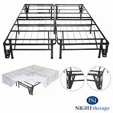 amazon com night therapy platform metal bed frame foundation set