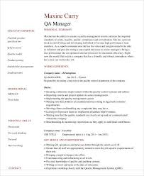 sample quality assurance resume 9 examples in word pdf