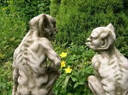 gargoyles on plinths mythical garden statue ornament berkshire