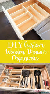 how to organize kitchen drawers diy diy custom wooden drawer organizers christene holder