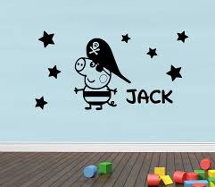 b45 pirate pig customized personalised vinyl wall sticker name b45 pirate pig customized personalised vinyl wall sticker name wall sticker gift in wall stickers from home garden on aliexpress com alibaba group