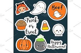 Halloween Stickers Cute Halloween Stickers Icons Icons Creative Market