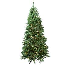 7 pre lit single slim glacier pine artificial tree