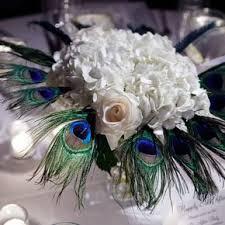Peacock Centerpieces Feather Wedding Centerpieces
