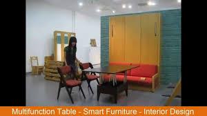 multifunction table smart furniture interior design youtube