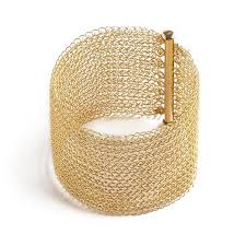 golden cuff bracelet images Gold cuff bracelet wide knitted cuff gold filled yooladesign jpeg
