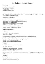 Sample Resume Of Driver Sample Driver Resume Unforgettable Truck Driver Resume Examples