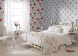 Floral Shabby Chic Wallpaper by Blue 550432 Floral Bouquet Trail Boutique Whitewell Wallpaper