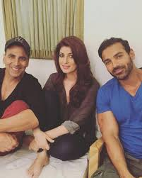 akshay kumar drops by twinkle u0027s sets with lunch box buddy john