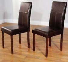 High Back Brown Leather Dining Chairs Parson Deluxe Multi Color Ikat Dining Chairs Set Of 2 Chair Home