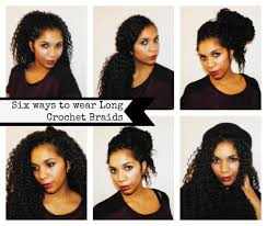 crochet braid ponytail 6 styles to wear crochet braids likely lads
