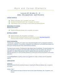career ready lesson 1 grades 6 9 jobs occupations and careers